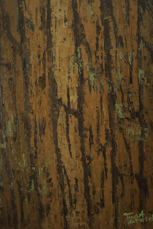 Abstract Pine Bark 16 x 20 TinasFineArtscom