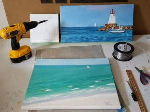 Tina A Stoffel Upcoming Marietta Ar Shows Preparing paintings for art shows