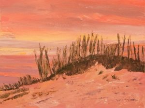 Clearwater Beach Sunset Sand Dunes Painting