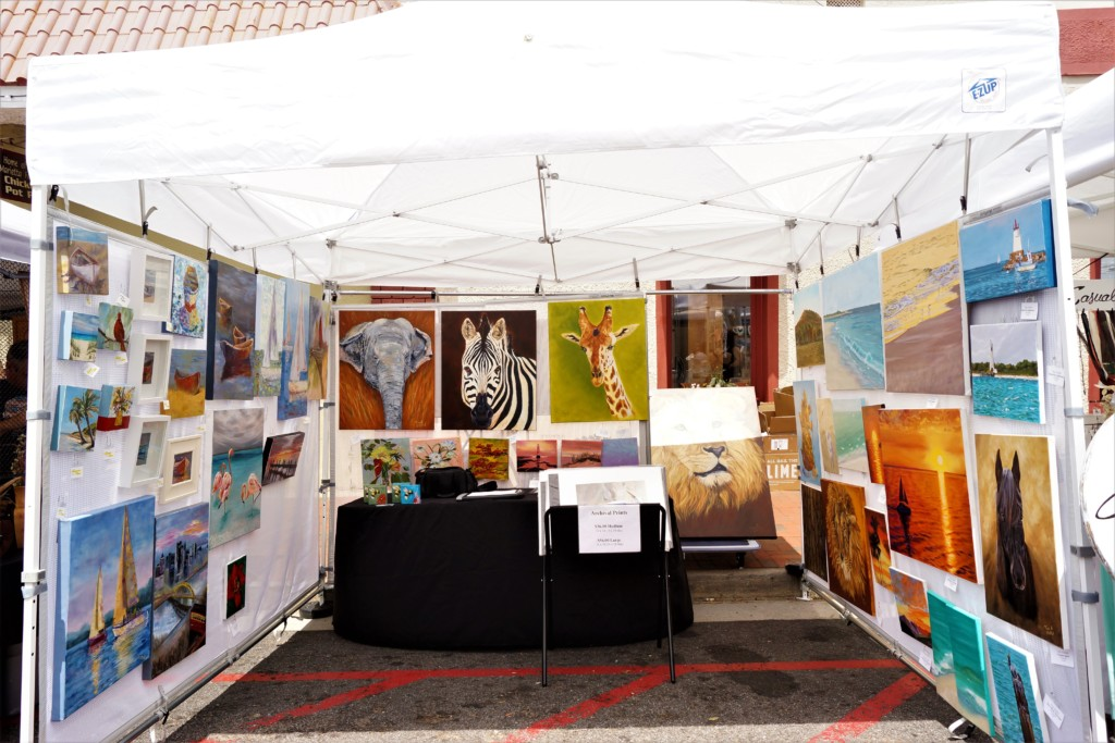 Local Artists Tina A Stoffel and Laurie Henry at the Marietta Artists Market Show
