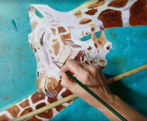 Giraffe Calf Julius Artist