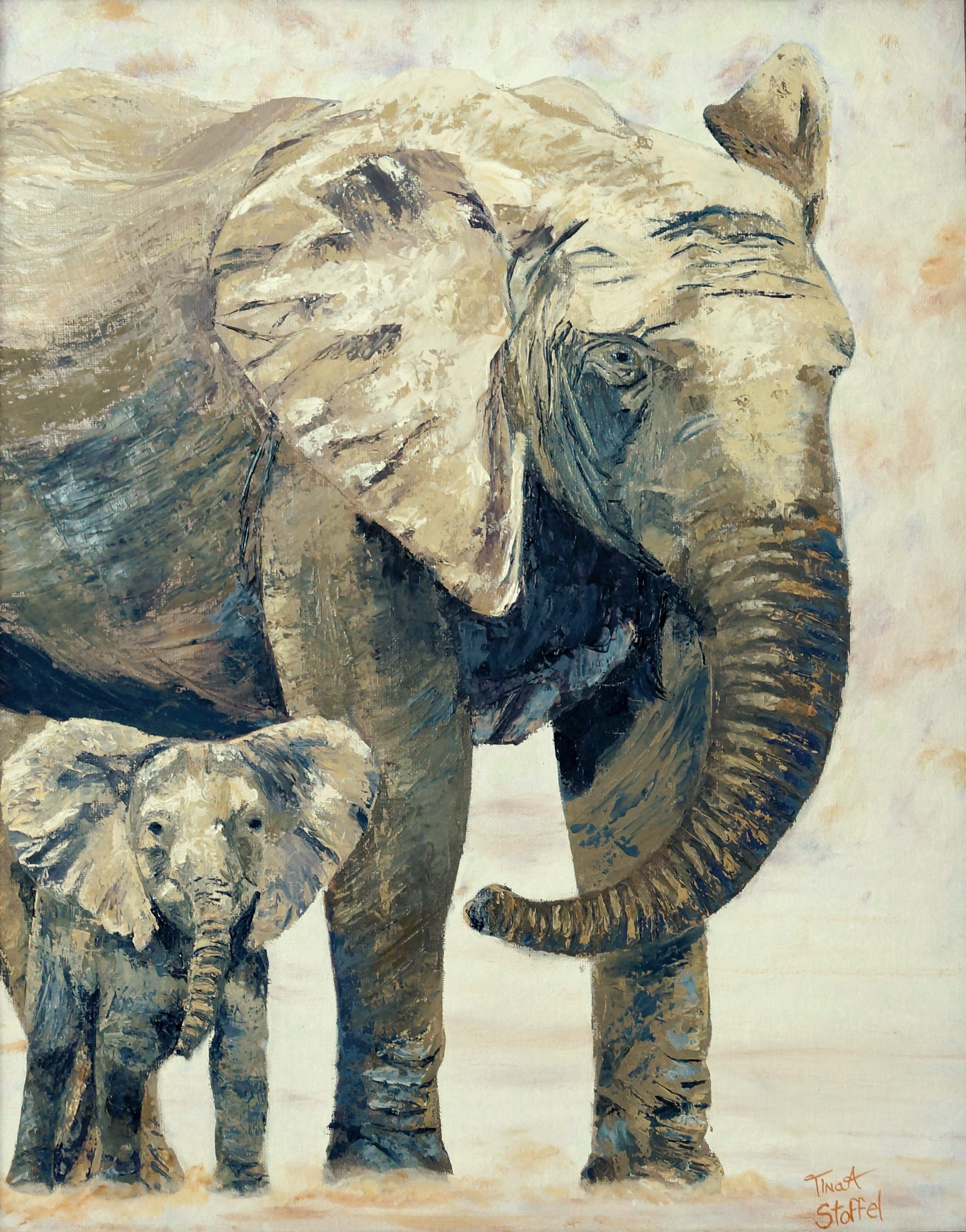 Mothers Love Elephant Painting
