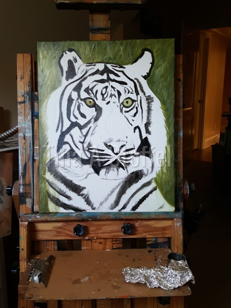 Tiger Painting Work In progress