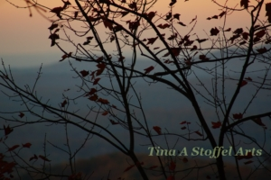 Blue Ridge Mountains Fall Evening View by Tina A Stoffel
