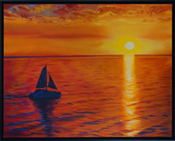 Framed Sailing into Paradise