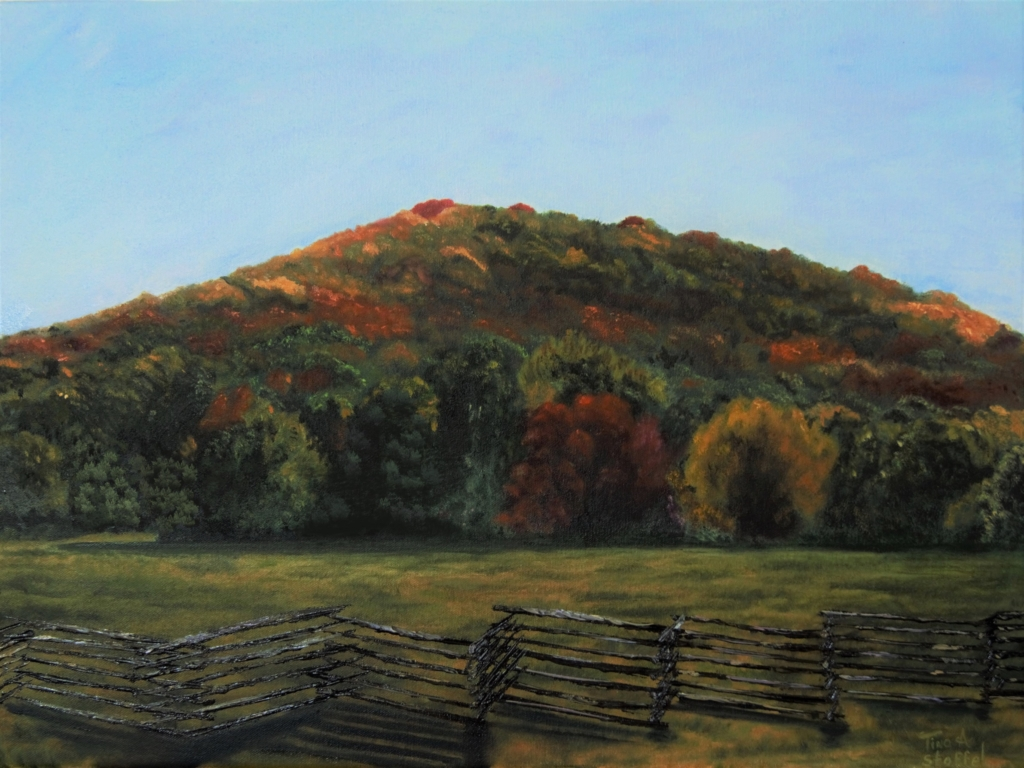 Autumn Kennesaw Mountain painting edited by Tina A Stoffel
