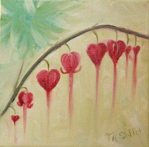Bleeding Hearts Painting 1 Tina A Stoffel